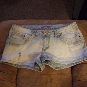 Women's light blue jean shorts
